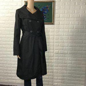 NWT Calvin Klein Black Warm Trench Coat M